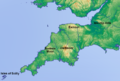 Topographic map of south-west England (labeled).png