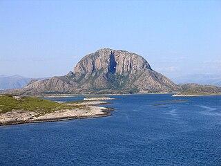 Torghatten Granite dome in Brønnøy, Nordland, Norway