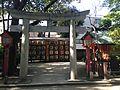 Torii of Sukunahikona Shrine in Sumiyoshi Shrine.JPG