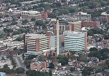 Toronto Western Hospital from CN Tower.jpg