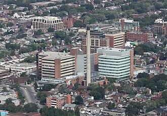 Toronto Western Hospital - Image: Toronto Western Hospital from CN Tower