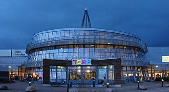 Torp Köpcentrum - Image: Torp shopping mall west part panorama
