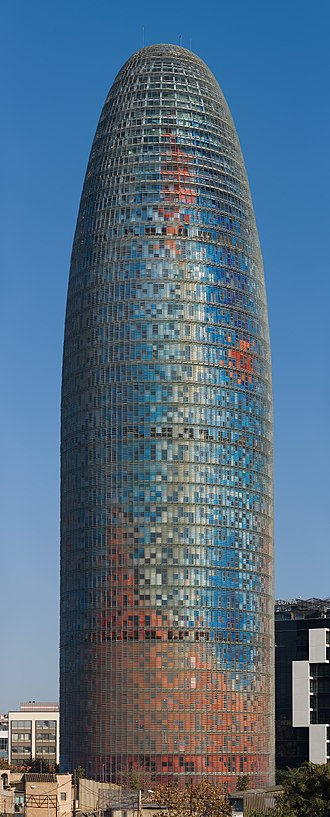 Torre Glòries - Torre Agbar, 10 February 2011