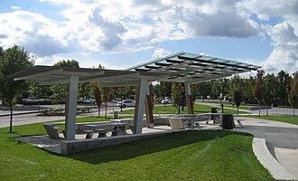 Wilsonville, Oregon - Town Center Park picnic shelter