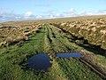 Track beside drain on Penn Moor - geograph.org.uk - 313823.jpg
