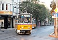 Tram in Sofia near Palace of Justice 2012 PD 005.jpg