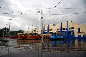 Trams in Kiev - Podilske Tram depot