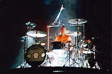 Travis Barker on stage in San Diego fe4d8f196185