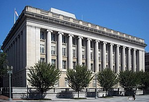United States Department of the Treasury - The Office of Foreign Assets Control and the main branch of the Treasury Department Federal Credit Union are located in the Freedman's Bank Building in Washington, D.C.