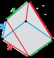 Trigonal trapezohedron hyperbolic fundamental half domain.png