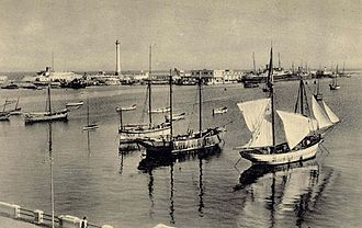 Port of Tripoli -  The port of Tripoli in the 1930s
