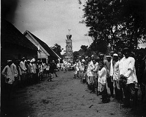 Hosay - Tadjah festival on a plantation in Suriname, circa 1890