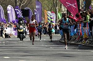 2013 London Marathon - Image: Tsegaye Kebede during 2013 London Marathon