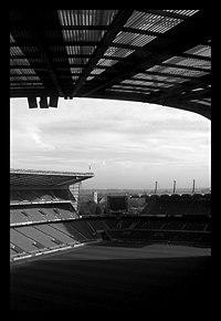 Vista del campo di Twickenham dalla tribuna nord dello stadio