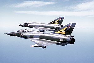 Dassault Mirage - Two Mirage III fighters in RAAF colours