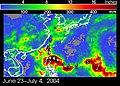 Typhoon Mindulle 2004 rainfall TRMM.jpg