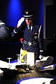 U.S. Air Force Airman 1st Class Pedro Ayala, with the Keesler Air Force Base Honor Guard, renders a salute while performing a POW-MIA table ceremony during the Air Force's 66th Birthday Ball at Keesler Air Force 130921-F-BD983-019.jpg