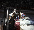 U.S. Army Col. David Grosso, the Fort Carson garrison commander, drops the puck between the Colorado Avalanche and St 130421-A-UK001-003.jpg