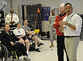 U.S. Army Gen. William Kernan and David Feherty are visiting injured troops at the Veterans Administration Medical Center in Augusta, Ga., April 8, 2009 090408-A-NF756-001.jpg