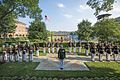 U.S. Marines with Marine Barracks Washington stand at the position of attentino, Washington, D.C., June 14, 2017.jpg