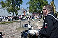 U.S. Navy Musician 2nd Class Christopher Pastin, foreground, with the U.S. Naval Forces Europe Band, Topside, performs for the Latvian community June 8, 2013, during Baltic Operations (BALTOPS) 2013 130608-N-ZL691-070.jpg