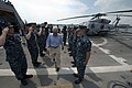 U.S. Secretary of Defense Chuck Hagel, center, concludes his tour of the USS Freedom (LCS 1) in Singapore, June 2, 2013 130602-D-BW835-256.jpg