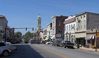 U.S. Route 460 - U. S. Route 460 runs through downtown Georgetown, Kentucky.