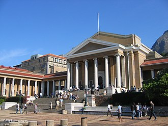 University of Cape Town - Sarah Baartman Hall and Memorial Plaza, the focal point Upper Campus.