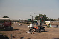 US2 merges with US191 in Malta Montana.jpg