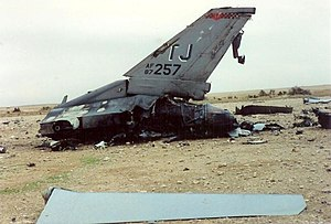 Package Q Strike - Image: USAF F16C block 87 0257 remains