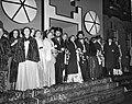 USC-lustrumspel. Tableau de la troupe van de acteurs en actrices, Bestanddeelnr 907-8724.jpg