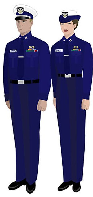 Uniforms of the United States Coast Guard Auxiliary - Image: USCGAUX Winter Dress Blue