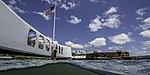 USS Arizona memorial from waterline.jpg