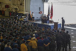 USS Arizona survivor visits USS America 141023-N-LQ799-085.jpg