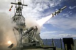 USS Coronado Launches First Over-The-Horizon Missle Using a Harpoon Block 1C Missile in Pacific Ocean, July 19, 2016.jpg