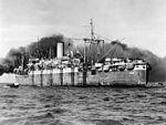 USS Joseph T. Dickmann (APA-13) at anchor c1943.jpg