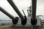 USS Missouri - Front Guns (6180408338).jpg