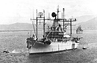 USS Mount McKinley - Mount McKinley off Vietnam, in 1969.