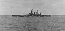 USS North Carolina (BB-55) during Marshall islands campaign, 25 January 1944