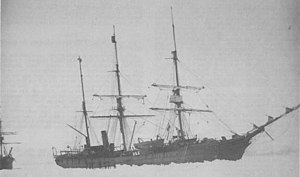 USS Thetis (1881) with USS Bear (1874)