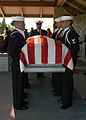 US Navy 040316-N-3560G-012 The Ceremonial Unit assigned to Naval Air Station Lemoore renders full honors at a military funeral at San Joaquin National Cemetery, Gustine, Calif.jpg