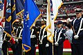 US Navy 071118-N-8390S-071 The Houston Joint Services Color Guard presents the colors during a Salute to the Military pre-game ceremony held at Reliant Stadium.jpg