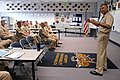 US Navy 080707-N-9818V-014 Master Chief Petty Officer of the Navy (MCPON) Joe R. Campa Jr. speaks to students attending the Prospective Commanding Officer, Prospective Executive Officer class.jpg