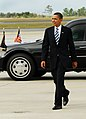 US Navy 091026-N-7682E-023 President Barack Obama approaches a crowd of spectators prior to boarding Air Force One.jpg