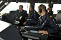 US Navy 100819-N-8273J-085 On the bridge, Chief of Naval Operations (CNO) Adm. Gary Roughead, left, looks on as the crew members of the Visby Corvette HSwMS NYKOPING get underway.jpg