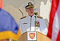 US Navy 101006-N-6138K-031 Chief of Naval Operations (CNO) Adm. Gary Roughead speaks at the U.S. Naval Forces Europe-Africa change of command cerem.jpg