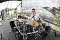US Navy 110805-N-AE328-072 Musician 2nd Class Edward Moore performs a drum solo at Genesee Park during the 62nd annual Seattle Seafair Fleet Week.jpg