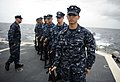 US Navy 110911-N-ZZ999-689 Sailors stand in formation during a 9-11 remembrance ceremony rehearsal aboard USS Mobile Bay (CG 53).jpg