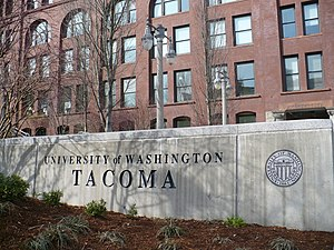 University of Washington Tacoma - Image: UW Tacoma entrance sign