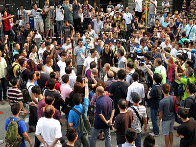 Umbrella Revolution Conflict in Mong Kok 20141003-1.jpg